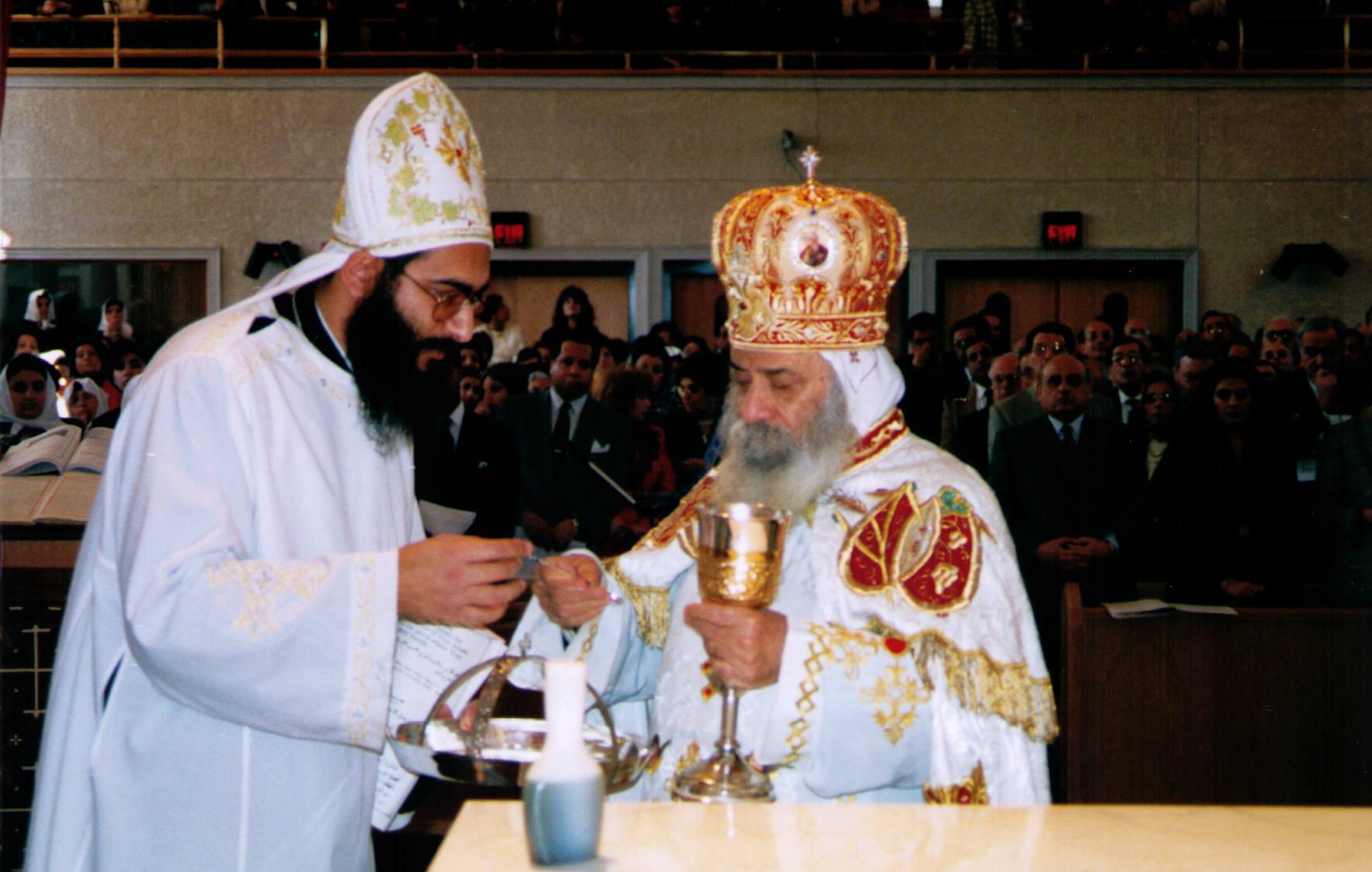 zur symbolik der heiligen eucharistie der koptisch