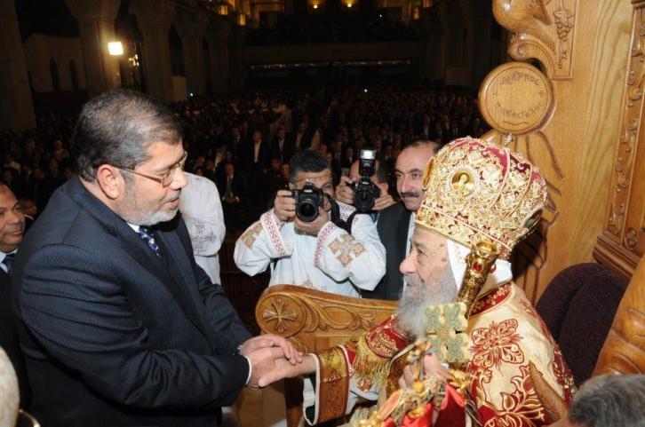 Papst Schenuda und Morsi