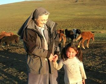 Katholische Missionarin in der Mongolei