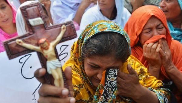 Christen-portestieren-in-Pakistan-gegen-Entführung