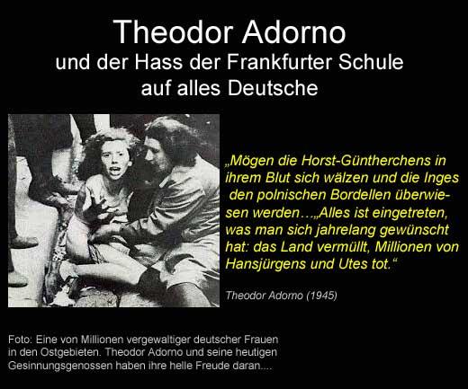 """Adorno und der Hass der """"Frankfurter Schule"""" auf alles Deutsche"""