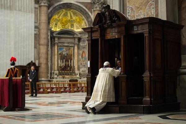 Papst beichtet