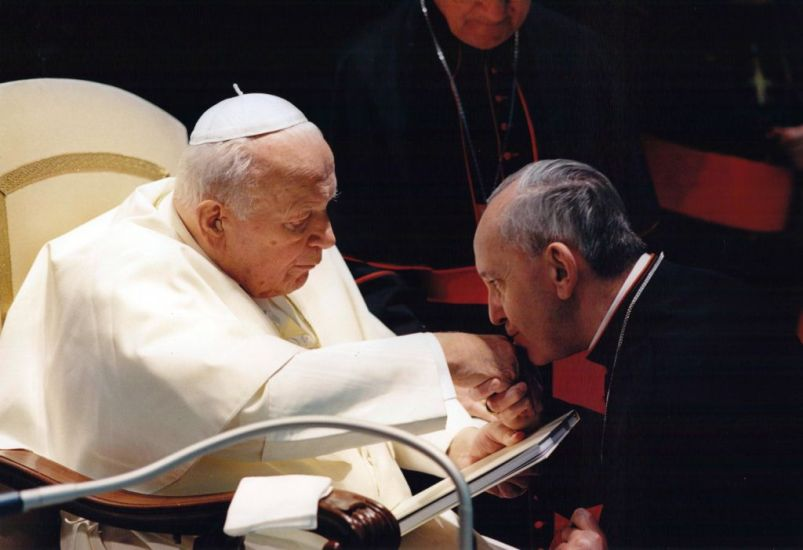 Bergoglio and Pope John Paul II