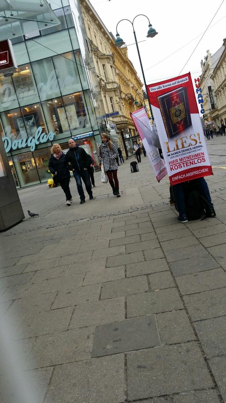 Koranverteilung in Linz