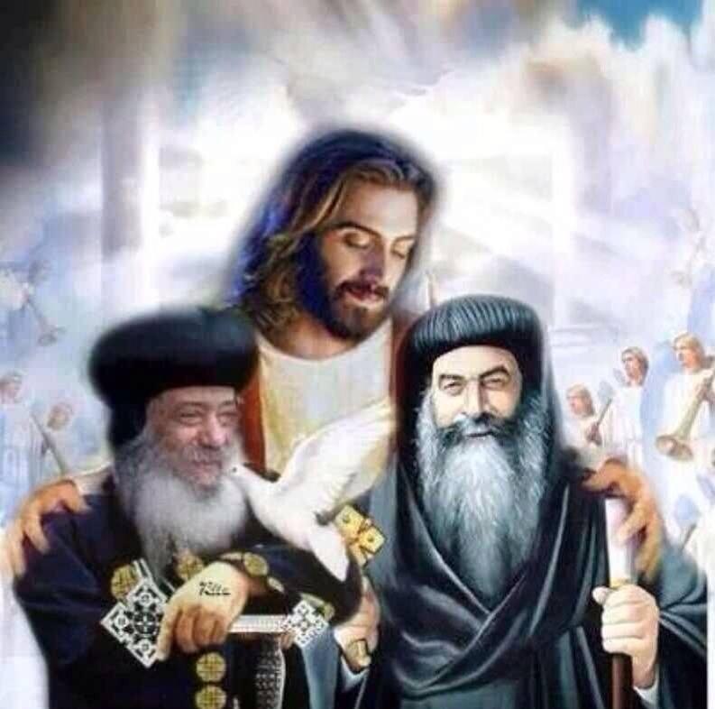 Koptische Päpste - Kyrillos und Schenuda