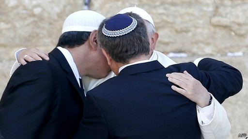 Papst mit Rabi und Imam