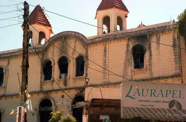 Ausgebrannte-Kirche-Kessab-Syrien