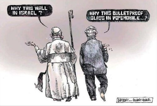 Wall and Popemobile