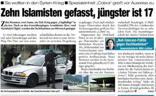 Islamische Terroristen in Öster.