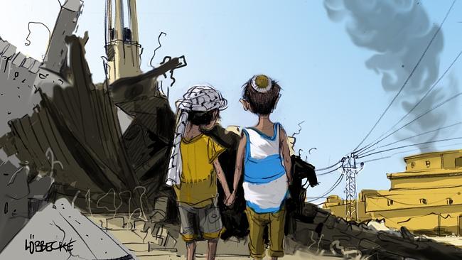 Israeli und Palästineser
