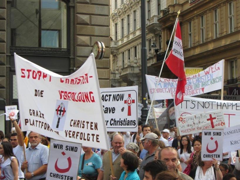 Solidaritätsmarsch 10.08.2014 in Wien 3