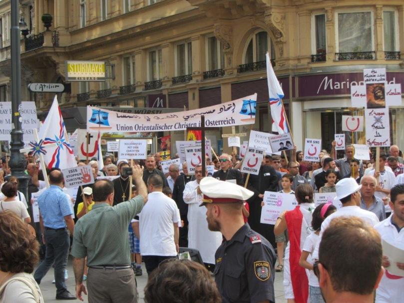 Solidaritätsmarsch 10.08.2014 in Wien 4