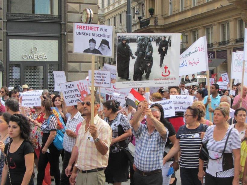 Solidaritätsmarsch 10.08.2014 in Wien