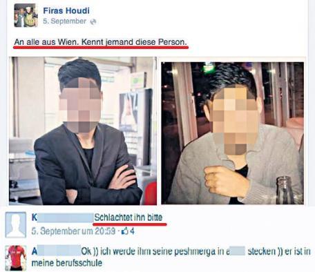 Firas H. droht einem Wiener mit Mord