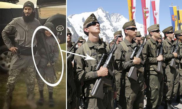 Dschihad-Bub kämpfte mit Gewehr aus Österreich