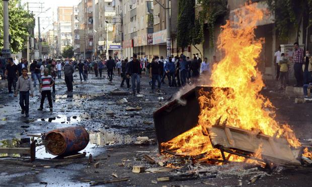 Kurden-Proteste in Türkei